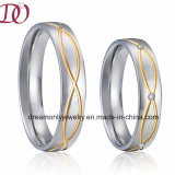 New Fashion Aliexpress Hot Sale Wedding Ring Stainless Steel Rings Pair Sets