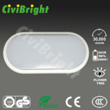 IP64 12W Oval Smooth curvado a prueba de humedad LED Ceilinglight con GS