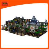 Campo de recreio temático do castelo com área de arma