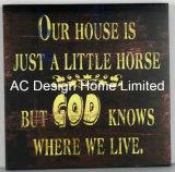 Word la plaza de Diseño de impresión de madera MDF Decoración pared placa