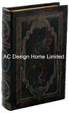 Americal antiguos de estilo vintage de cuero de PU relieve/almacenamiento de madera MDF cuadro Libro