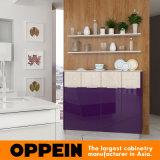 現代紫色のラッカーダイニングテーブル(OP16-L10)が付いている木の食器棚