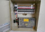 cadre de bloc d'alimentation d'appareil-photo de télévision en circuit fermé de 12VDC 10AMP pour 18 appareils-photo (12VDC10A18P)