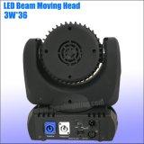 LEIDENE 36*3W LEIDENE DMX Straal die HoofdVerlichting bewegen