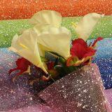 Blumen-Schnee-Ineinander greifen