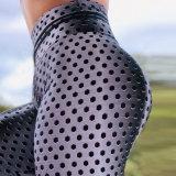 Venda a quente calças de ioga para mulheres com calças de ioga Impressão Hexagonal Sport Pants, perneiras