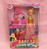 Impresión personalizada de plástico y papel de caja plegable para juguetes de Barbie (cajas de regalo)
