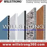 Comitato composito di alluminio ondulato per il segno e la parete esterna