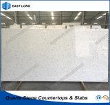 Erstklassige künstliche Quarz-Platte für Hauptdekoration-Baumaterial mit SGS-Report (Marmorfarben)