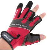 Venta caliente dedos escotados antirresbaladizos respirables de los guantes de 1 pesca de los pares 3 que pescan guantes de la pesca