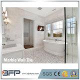 mattonelle decorative interne di marmo bianche della parete Carrara del mattone spesso di 1cm