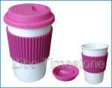 Resuable 14 onces de café en porcelaine de tasse de voyage durables (TM2012-GB)