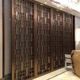 De Verdeling van het Scherm van de Verdeler van de Zaal van het Metaal van de Kleur van het brons voor de Decoratie van de Zaal van het Hotel