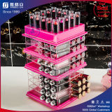 Présentoir acrylique Balck acrylique personnalisé pour les battements de rouge à lèvres