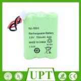 Ni-MH 750mAh AAA 3.6V Baterias recarregáveis / células Pacote Bateria do telefone sem fio