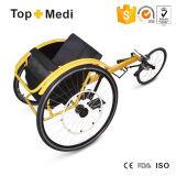속도 종류 휠체어를 경주하는 Topmedi 알루미늄 경량 스포츠