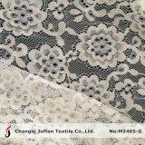 Laço Allover líquido do algodão do jacquard para os vestidos (M3465-G)