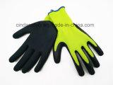 С покрытием из латекса песчаных наружной отделкой труда защитные рукавицы работы