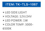 Indicatore luminoso incandescente Tk Tls-1067 del LED