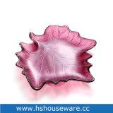 Plaque de verre de conception des feuilles de pigment