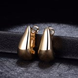 Fashion Simple Design 18K Gold Plated Stud Earring for Women