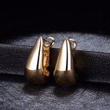 형식 단순한 설계 18K 여자를 위한 금에 의하여 도금되는 장식 못 귀걸이