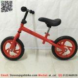 La formación niño empuje a balancear la bicicleta bicicleta