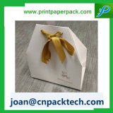 Luxo Romântico personalizados com cabo trançado de veludo saco de papel