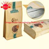 Пластиковый Quad упаковки продуктов питания плоский низ сумка с молнией