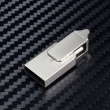 Movimentação do flash do USB do metal OTG para presentes relativos à promoção