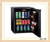 ブラックで38L Compacityホテル冷蔵庫シングルドア冷蔵庫キャンプ