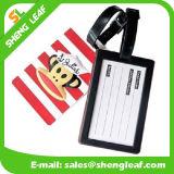 etiqueta de goma del equipaje del PVC de la marca de fábrica de la insignia 3D (SLF-LT042)