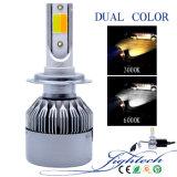 Più nuovo faro doppio dell'automobile LED di colore con il kit di conversione del faro di Auot 6000K e luminoso eccellente del LED 3000K (9004/9007/di H13/H4)