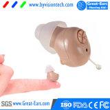 Equipos de amplificación de los servicios de salud mini audífonos invisibles