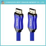Цинкового сплава 5m 4K 3D основную часть кабеля HDMI с Ethernet для HDTV с золотым покрытием ноутбук