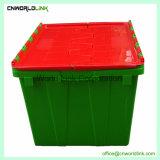 Attaccare il recipiente di plastica provvisto di cardini del pacchetto dell'ufficio muoversi e di memoria del coperchio