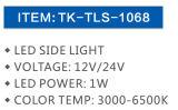 Indicatore luminoso incandescente Tk Tls-1068 del LED