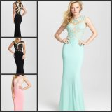 Chiffon Cocktail Gowns Lace Colorful Party Prom Evening Dress Mj6428