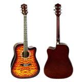 Стеганая кожи цвета сверху акустическая гитара модель