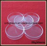 녹기를 위한 명확한 원형 실리카 석영 유리 세균 배양용 접시