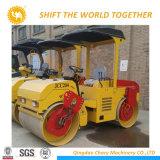 12 톤 유압 롤러 두 배 드럼 진동하는 쓰레기 압축 분쇄기