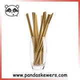 Commerce de gros bambou organique pailles à boire avec brosse