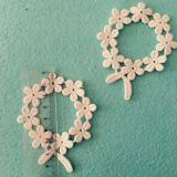 Merletto dell'autoadesivo del panno del fiore del cotone per la decorazione