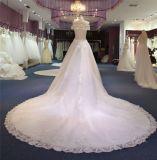 Выключение плечо Sequin валика клея кружево свадебные платья Wgf036