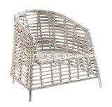 Самая последняя софа отдыха ротанга конструкции с бортовой мебелью используемой таблицей напольной