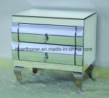 3 gavetas de espelho curvo colchão com as pernas de aço inoxidável
