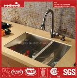 Rayon de zéro en acier inoxydable Handcrafted lavabo