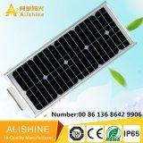 Instalación altura de 5 M para la luz solar de la calle LED de 25 W con el panel solar