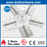 4X3X3 UL Listed 2bb Charnière SS304 pour Fire Door & Metal Door