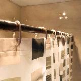 Занавес ливня мозаики PEVA черного квадрата для ванной комнаты